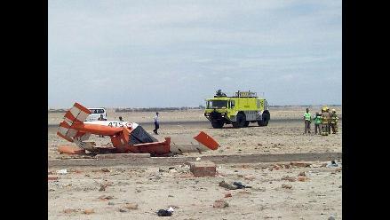 Imágenes exclusivas de la caída de una avioneta en Pisco