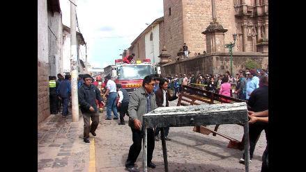 Cusco: Fuego destruye cuadros y reliquias en la Capilla San Lázaro