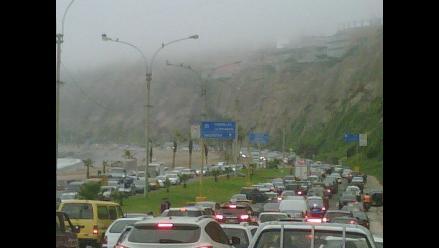 Tráfico en la Costa Verde atrapó a conductores más de dos horas