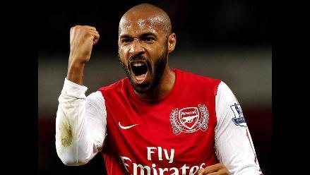 Thierry Henry se despide del Arsenal ante el Milan