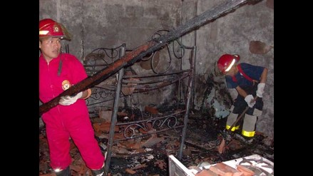 Junín: Incendio destruye vivienda y deja a dos personas con quemaduras