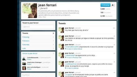 Jean Ferrari tras el ataque en Matute:´Hoy más que nunca soy de la ´U´