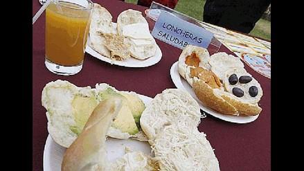 Loncheras y kioscos escolares saludables deben incluir alimentos nutritivos