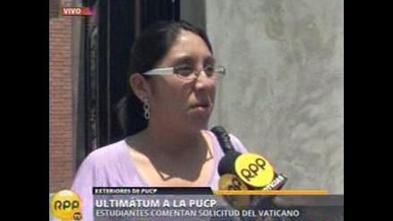 A estudiantes de la PUCP no les preocupa el ultimátum del Vaticano