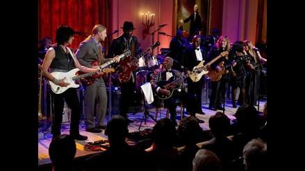 BB King y Mick Jagger cantaron blues junto a Barack Obama
