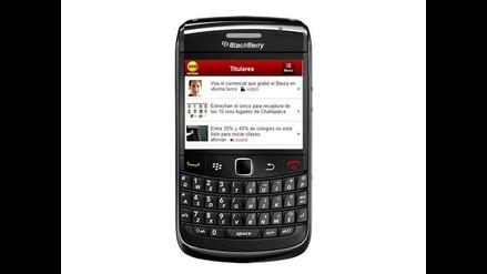 Tú también puedes tener la Aplicación de RPP Noticias para Blackberry