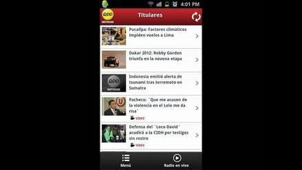 Prueba la aplicación de RPP Noticias para smartphones Android