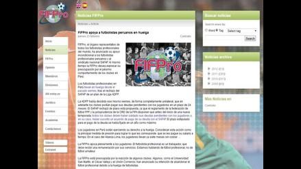 FIFpro respalda huelga de futbolistas peruanos y critica a los clubes