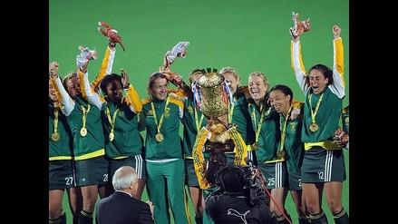 Así celebraron las bellas jugadoras del equipo sudafricano de hockey