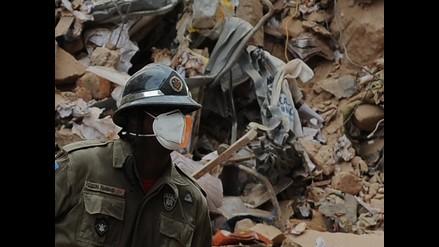 Imágenes del desplome de un edificio en Rusia