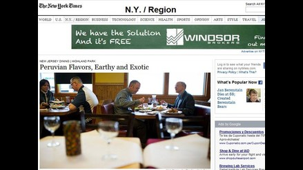 Comida exótica peruana conquista a comensales en Nueva York