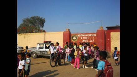 Señalan que 100 colegios de Lambayeque no cuentan con vigilancia