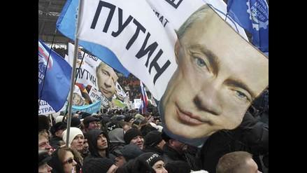 Polémica campaña a favor de Putin