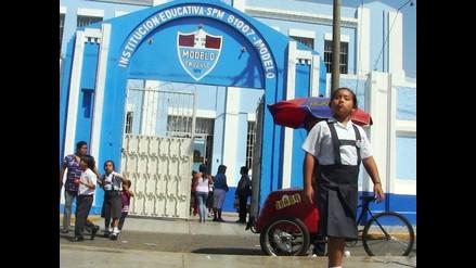 Ausencia de escolares en el primer día de clases en Trujillo