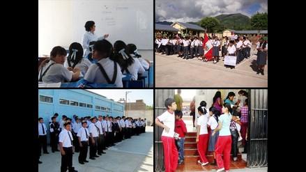 Así vivieron el primer día de clases los escolares peruanos
