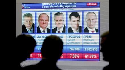 Vladímir Putin ganó las elecciones y fue elegido presidente de Rusia