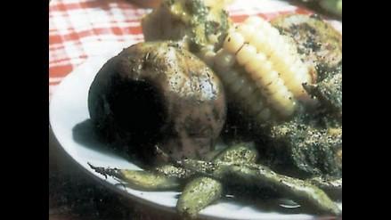 La receta: pachamanca de pescado a la olla