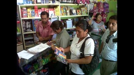 Piura: Inspeccionan librerías para detectar útiles escolares tóxicos