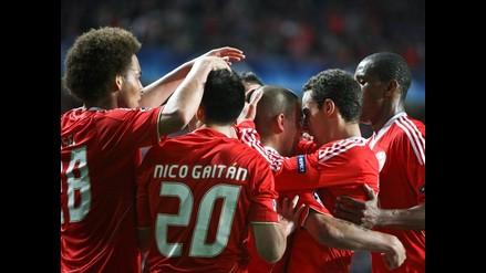 Benfica venció 2-0 al Zenit y clasificó a los cuartos de la Champions