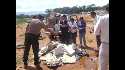 Moyobamba: Dos policías y fiscal heridos cuando destruían pirotécnicos