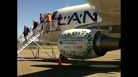 LAN realiza primer vuelo con biocombustible en Sudamérica