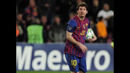 Lionel Messi se mostró contento con la primera 'manita' de su carrera