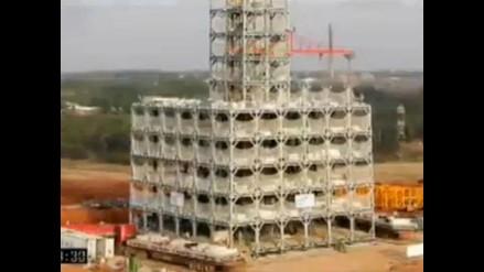 Chinos construyen edificios de 30 pisos en tiempo récord