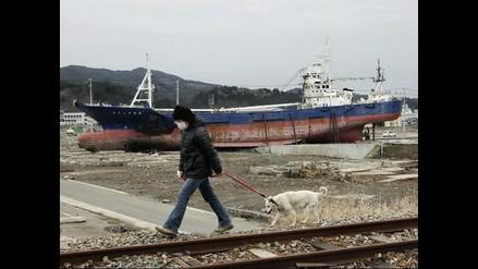 Barco en medio de la nada: imborrable huella del tsunami en Japón