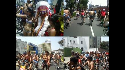 Twitter: Comparten imágenes de la 7ma ciclonudista en Lima