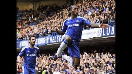 Chelsea vence a Stoke City con históritco gol de Didier Drogba