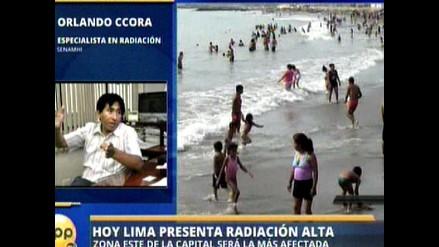 Senamhi: Radiación UV se mantendrá alto hasta otoño