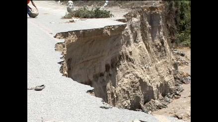Río Santa arrasó parte de vía de acceso a sierra de Huaraz