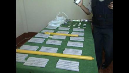 Arequipa: Detienen a hombre con 156 cartuchos de dinamita en mochila