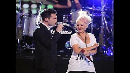 Christina Aguilera le hace la guerra a Adam Levine