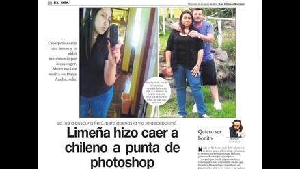 Con ayuda de Photoshop joven peruana conquista a ciudadano chileno