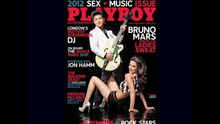 Bruno Mars posó para la portada de Playboy