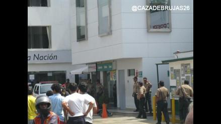 FOTOS: Un policía muerto tras asalto al Banco de la Nación en Ate