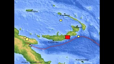 Fuerte sismo remeció isla de Papúa Nueva Guinea