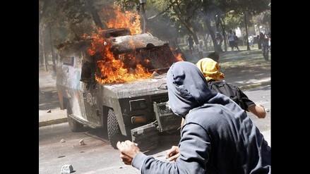 Protesta estudiantil en Santiago de Chile termina en enfrentamiento