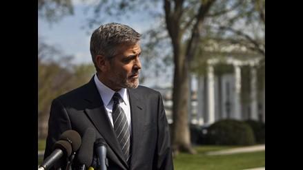 George Clooney visita la Casa Blanca para presionar sobre Sudán