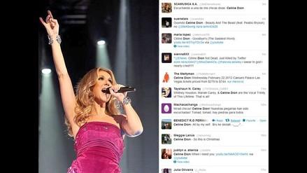 Celine Dion se convierte en la nueva víctima de Twitter