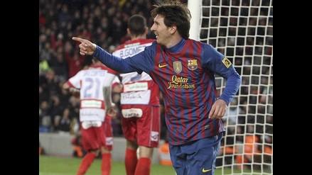 Barcelona goleó 5-3 al Granada y Lionel Messi romper récord