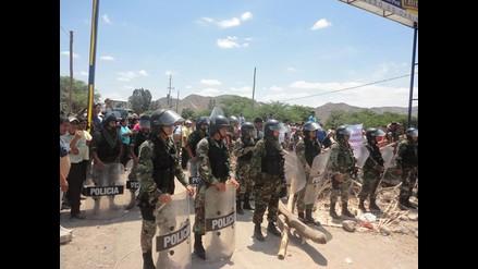 Nasca: Policía controla la situación en Puente Nuevo