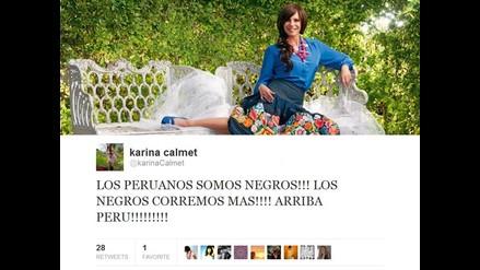 Karina Calmet: ¡Los peruanos somos negros, los negros corremos más!