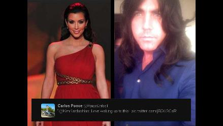 Carlos Ponce se burla de Kim Kardashian publicando foto en Twitter