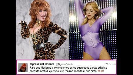 Tigresa del Oriente asegura tener el mismo cuerpo que Madonna