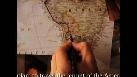 ´La costura de América´, un viaje en solitario de 45.000 kilómetros