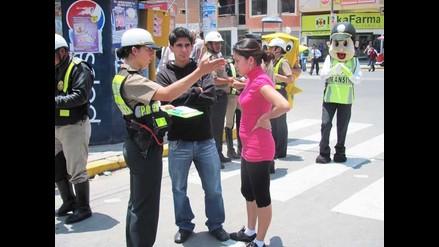 Chiclayo: Papeletas a peatones no se imponen por falta de personal