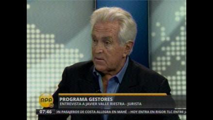 Valle Riestra no defenderá al gobierno regional por el caso Conga