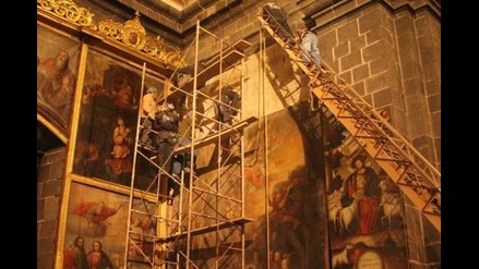Arzobispado inició restauración de lienzo en Cusco